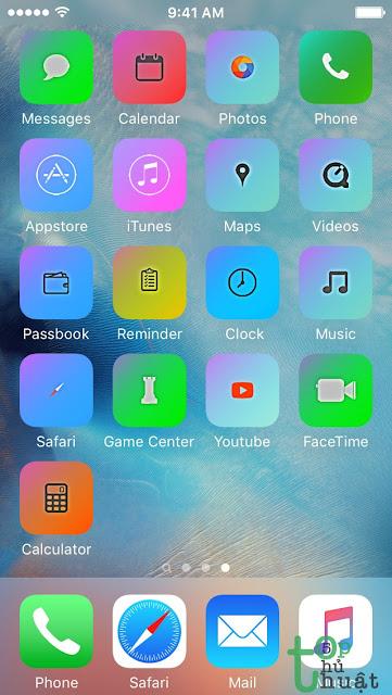 Hướng dẫn đổi giao diện iPhone không cần Jailbreak cực đẹp