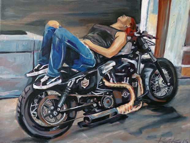 Motorcycle Art With Harley-davidson Leather Prints