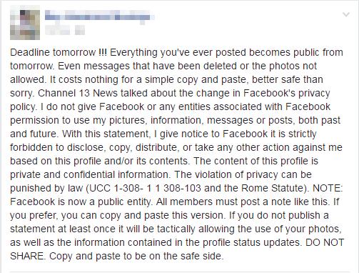 Deadline tomorrow Facebook