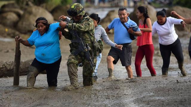 Confirman cuatro muertos y 18 desaparecidos por riada en suroeste de Colombia
