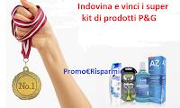 Logo Indovina e vinci gratis i super kit di prodotti P&G