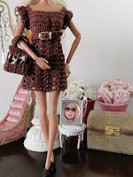 Vestido de Barbie Crochê, sapatos, botas, bolsa e cinto Para Barbie  Criados Por Pecunia MM