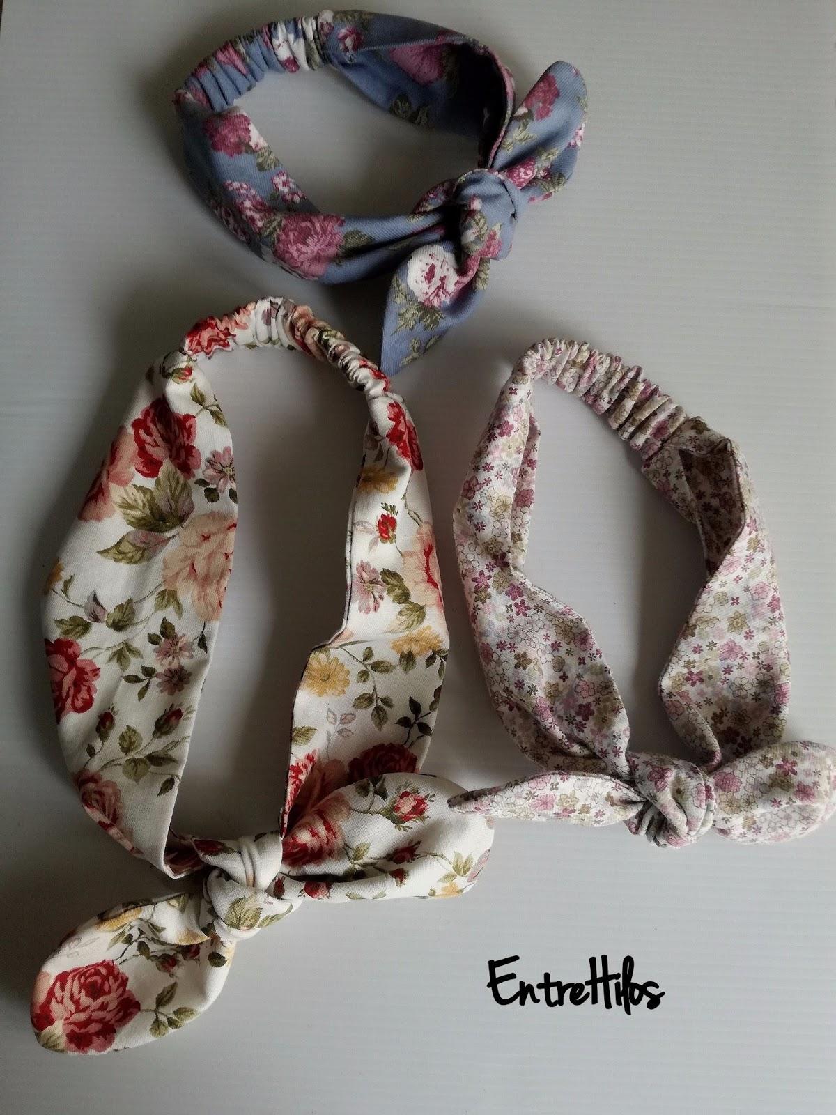 EntreHilos y algo más: Como hacer una bandana o diadema con lazo