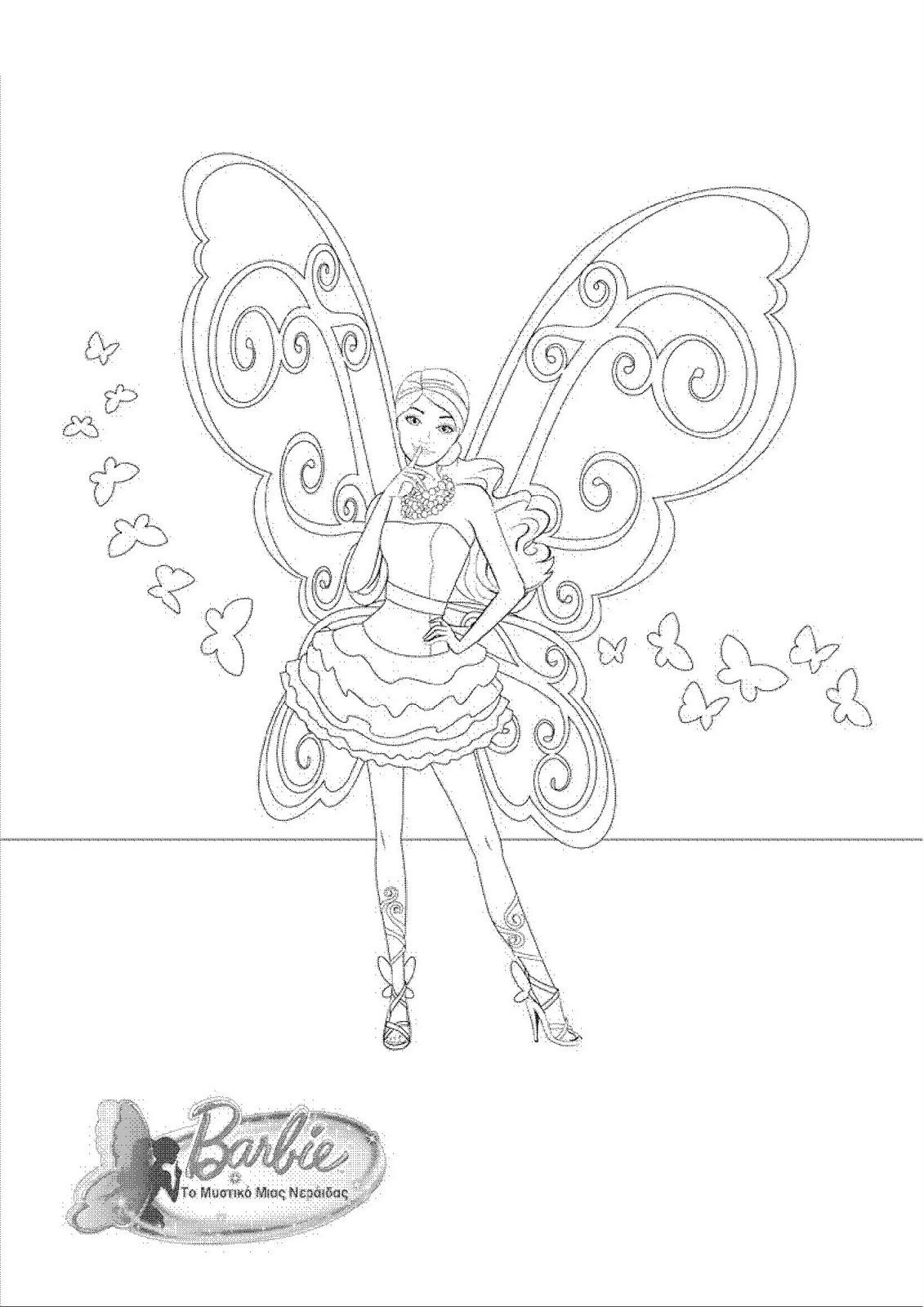 Pintar De Dibujos Munecas Barbie Colorear Para Aq35rl4j