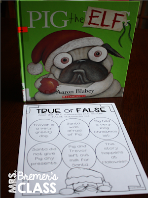 Pig the Elf book study companion activities perfect for Christmas in the classroom! Packed with fun literacy ideas and guided reading activities. Common Core aligned. K-2 #bookstudy #bookstudies #1stgrade #2ndgrade #Christmas #pigtheelf  #picturebookactivities #literacy #guidedreading #bookcompanion #bookcompanions #2ndgradereading #1stgradereading #christmasbooks