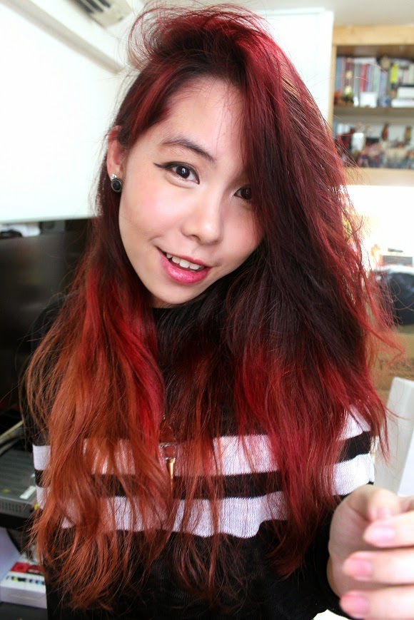 Melody: DIY: Gradient Red Hair (w/ Pastel Pink)