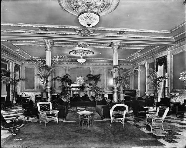 The lobby of the Murray Hill Hotel