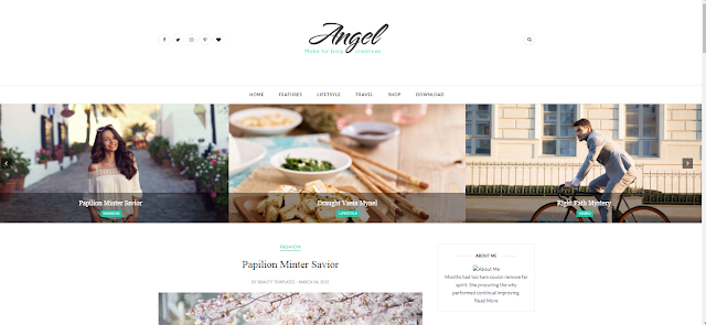 mẫu template blogspot cá nhân Angel