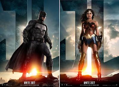Justice League Character Movie Poster Set - Batman & Wonder Woman