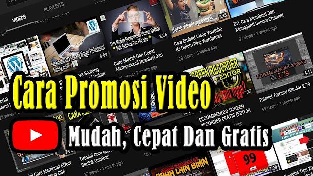 Satu Lagi Cara Promosi Video Youtube yang Harus Anda Lakukan