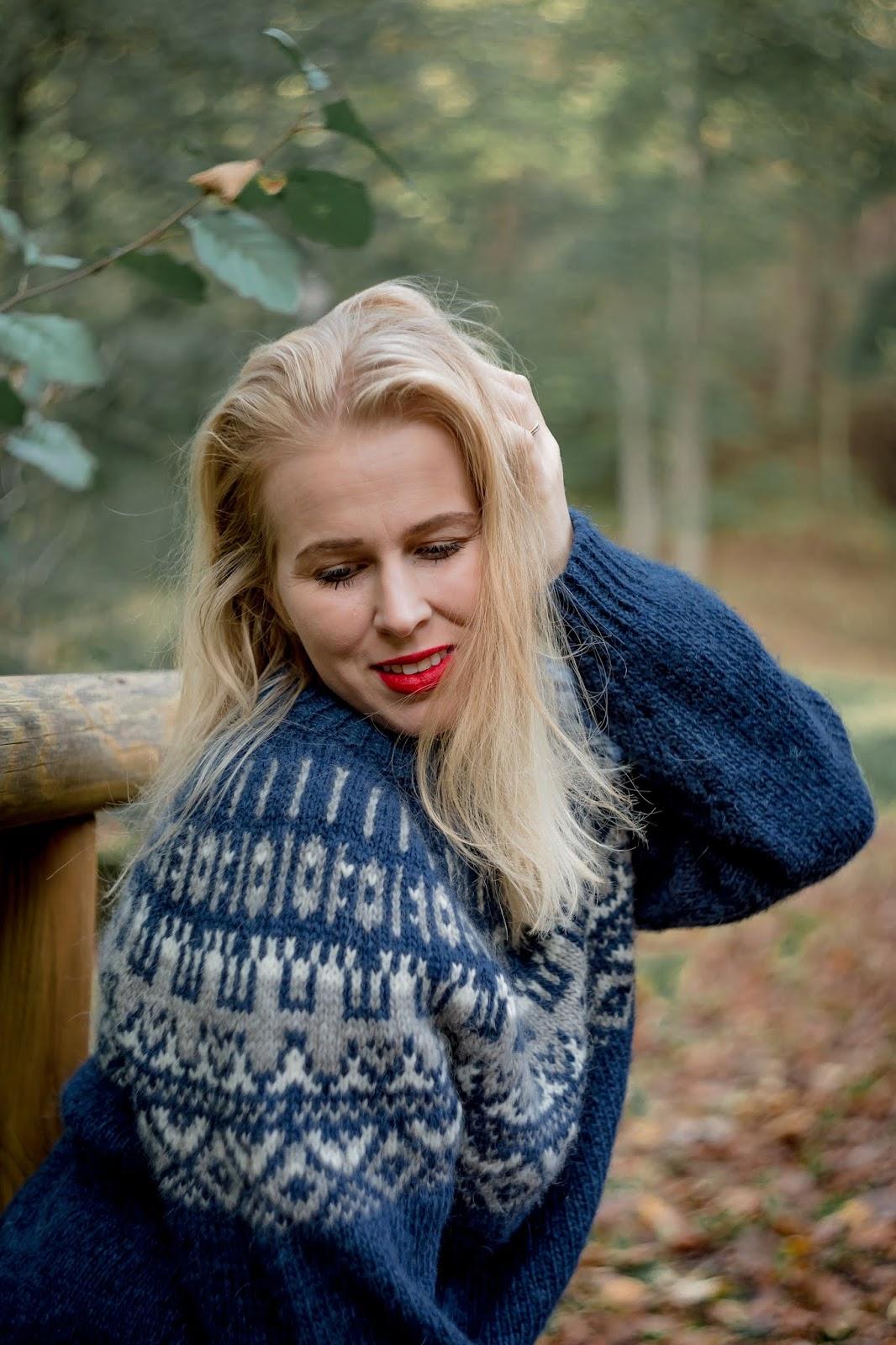 blueiceberg, damski sweter wełna