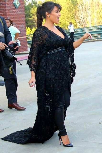Vestido de festa grávida kim kardashian