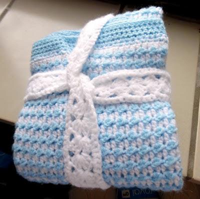 Crochet Baby Boy Blanket Free Crochet Pattern