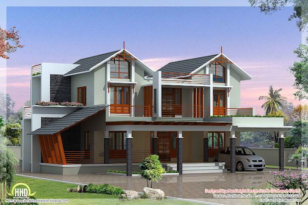 Modern And Unique Villa Design - Kerala Home