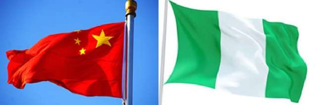 Nigeria-China national flags