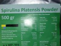 Jual Spirulina Powder / Grosir Spirulina Bubuk Curah 081230855989 isi 500gram FDA Kemasan Baru