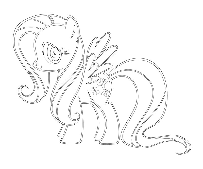 my little pony fluttershy coloring pages - young fluttershy coloring pages the