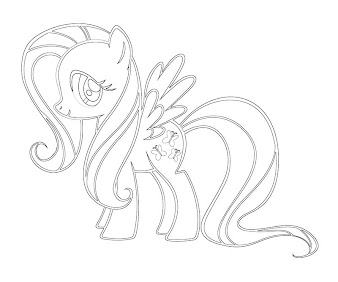 at the gala fluttershy coloring pages | #16 Fluttershy Coloring Page
