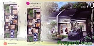 Denah-Cluster-Terrace-Hill-Residence-Tahap-2-Sentul-City-2-Up-Slope-tipe-70