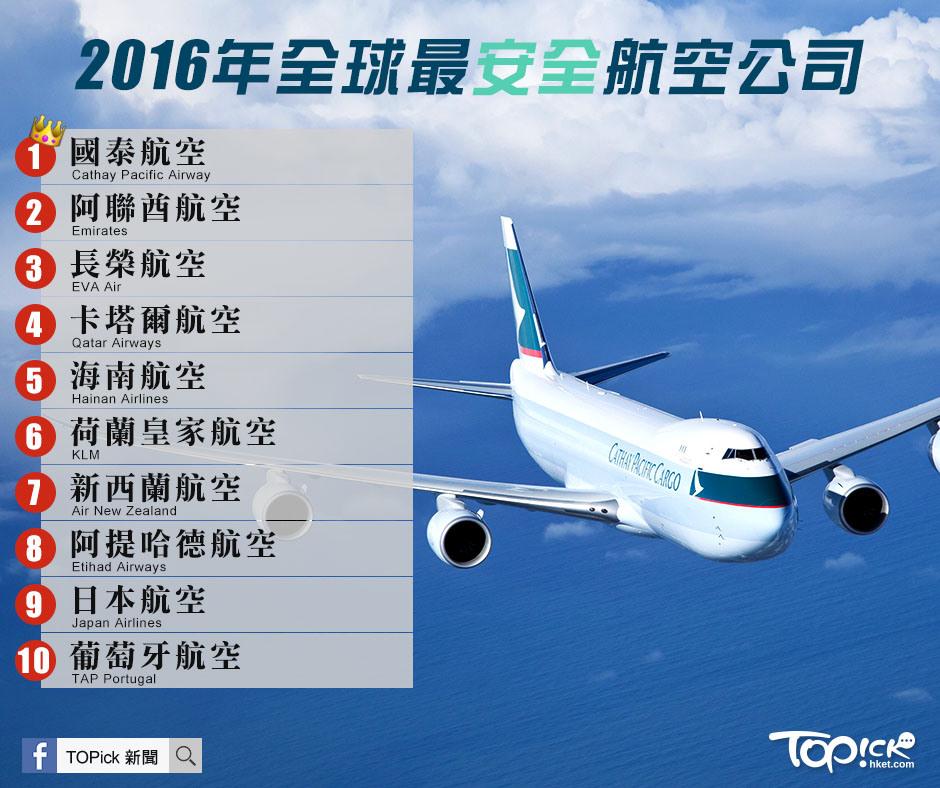 航空資訊站---最新動態----: 2016全球最安全航空公司