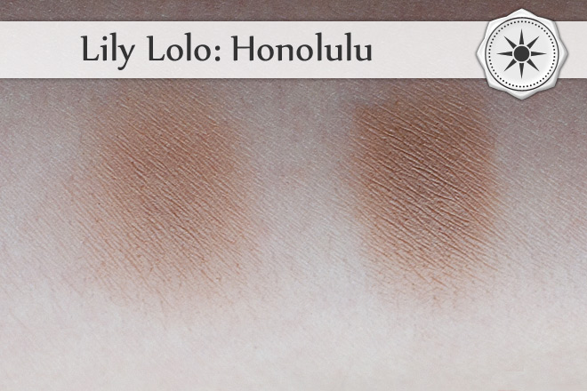 Lily Lolo - Honolulu - swatches