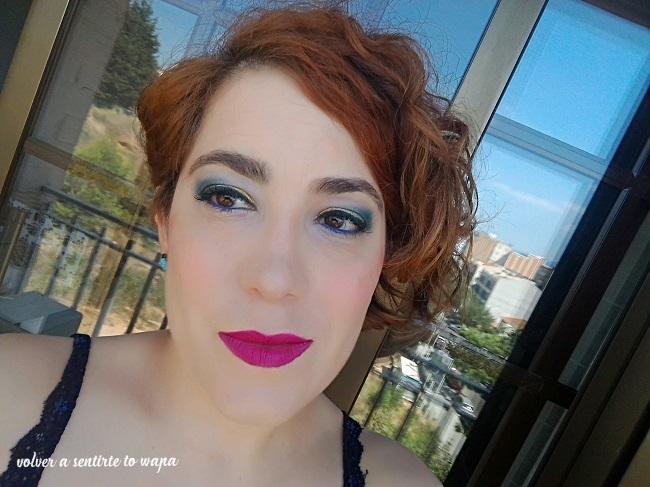 Maquillaje en dorados y azules #summer