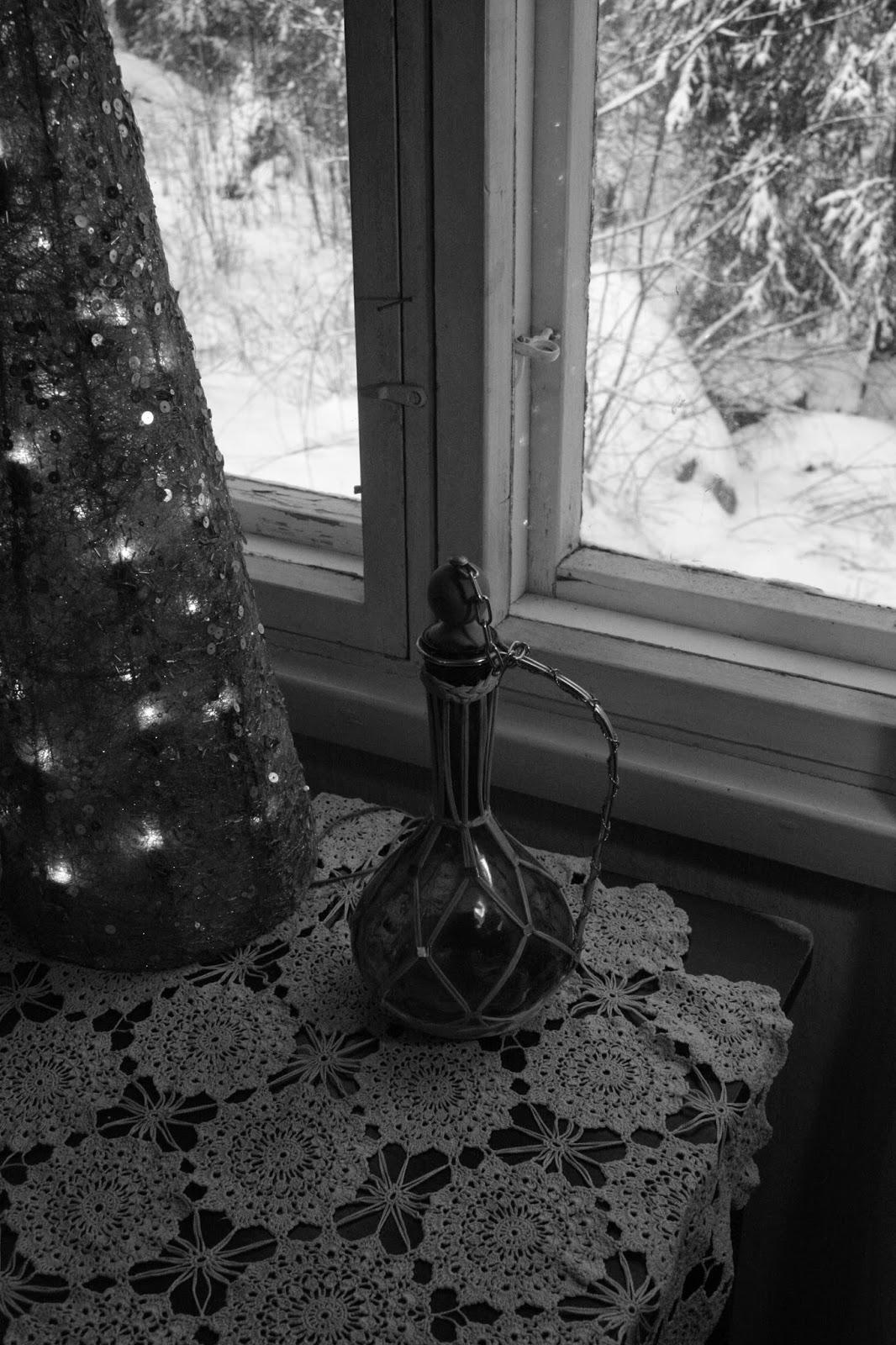 likööri, karahvi, winter, liqueur,carafe, decanter, garrafa, licor, ikkuna