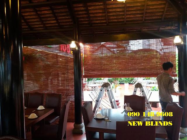 công trình mành sáo che mưa cho nhà hàng