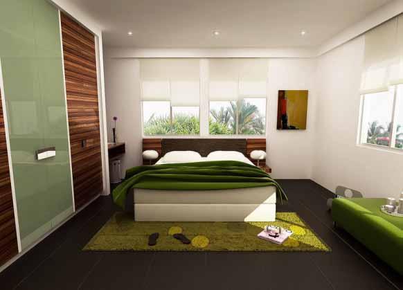 Desain Kamar Tidur Warna Hijau | Kamar Tidur Terbaru 2014