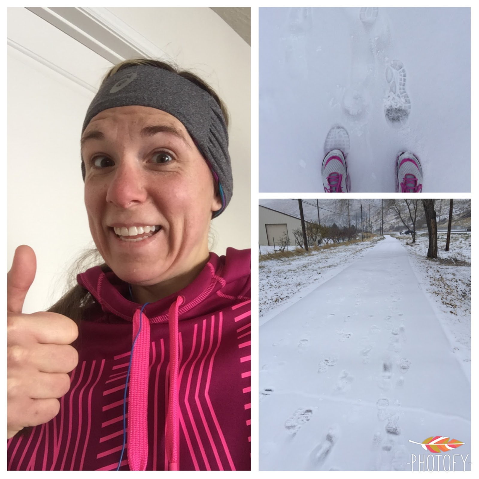 running 12 miles on the snow in utah training for the dopey challenge