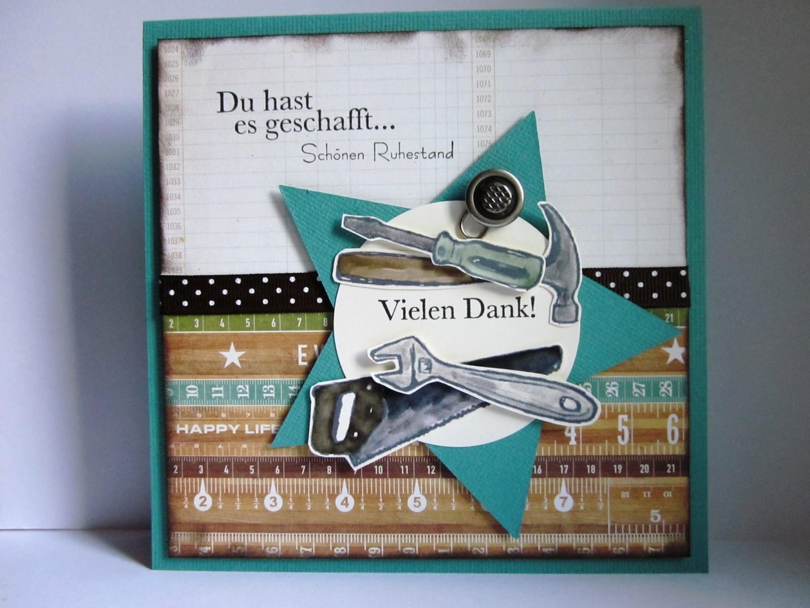 Stampin with fanny m nnerkarte zum ruhestand for Geschenke fur den ruhestand