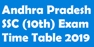 AP Board 10th Exam Time Table 2019