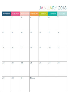 Free printable Monthly Calendar in two designs (Greek & English layouts) - Ioanna's Notebook