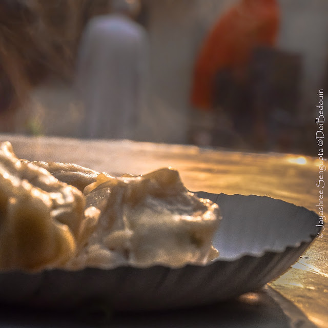 The morning sunshine over the steamy momos.@DoiBedouin