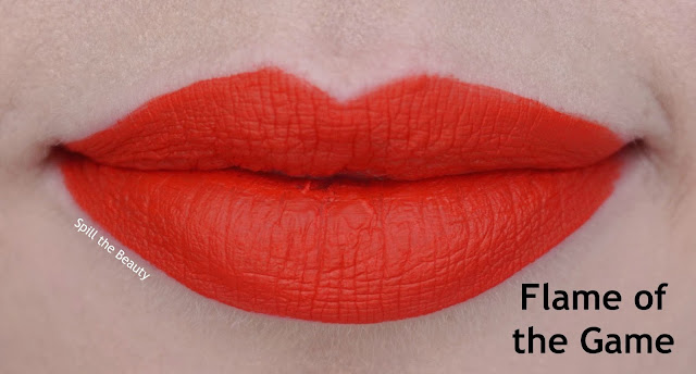 wet n wild liquid catsuit matte lipstick review swatches look flame of the game 929b lips
