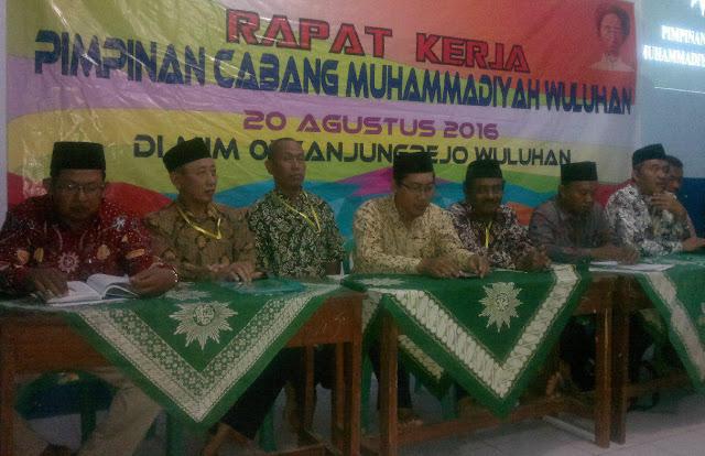 Rapat kerja Pimpinan Cabang Muhammadiyah Wuluhan, 20 Agustus 2016