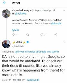 klarifikasi google tentang perubahan domain authority