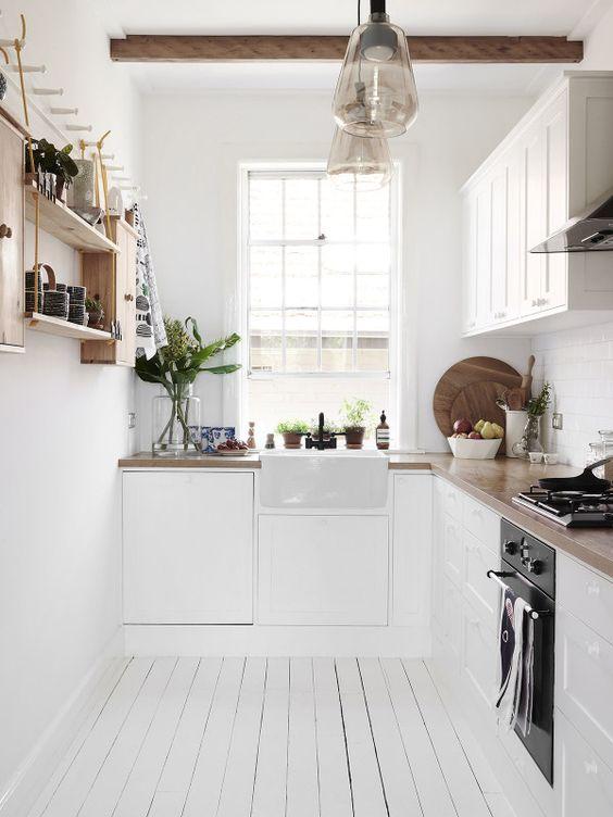 4 formas de distribuir tu cocina mi silla azul - Cocinas estrechas ...