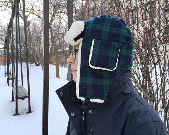 Staying warm in a do-it-yourself bomber hat (+ pattern!)