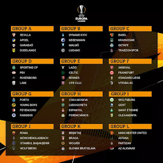 Grupos da Liga Europa 2019-20