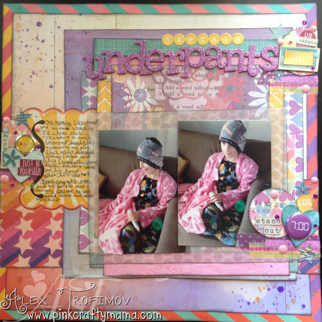 mercy tiara scrapbook scrapbooking layout challenge pink crafty mama pinkcraftymama basic grey soleil sassafras nerdy bird purple