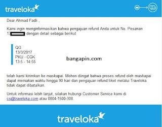 refud traveloka melalui aplikasi