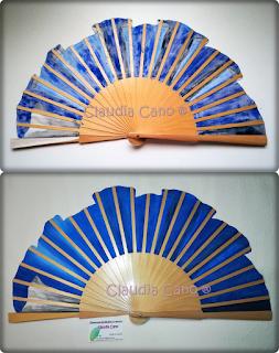 Abanicos pintados a mano por claudia cano abanico volante - Como pintar abanicos ...
