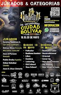 POSTER 3 3RA Convencion de Tatuadores Ciudad Bolívar 2018