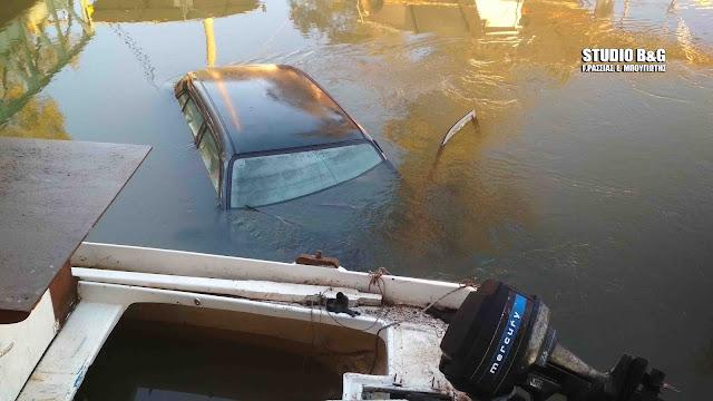 Αργολίδα: Αυτοκίνητο έπεσε στο ποτάμι στη Νεα Κίο (βίντεο)