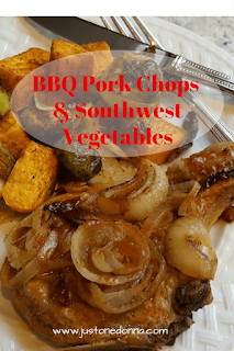 BBQ Pork Chops and Southwest Vegetables