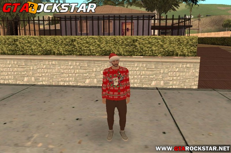 GTA Online Christmas Pack (Skins de Natal do GTA V) para GTA SA