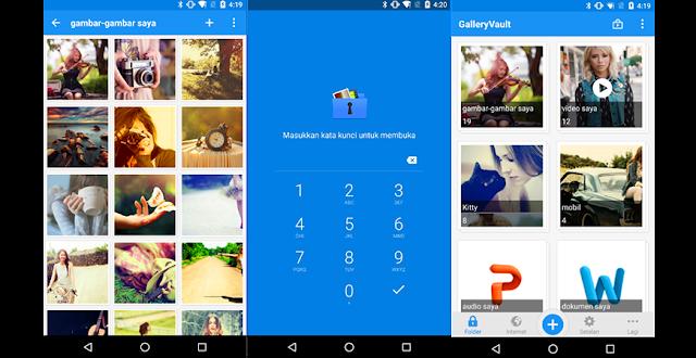 Aplikasi GalleryVault Android