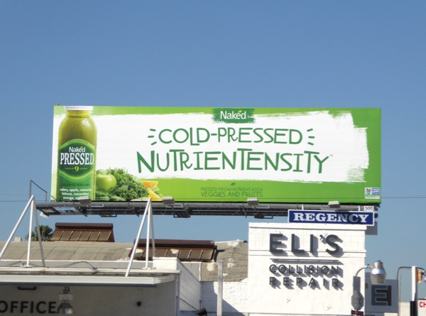 Nutrientensity Naked Pressed Juice billboard