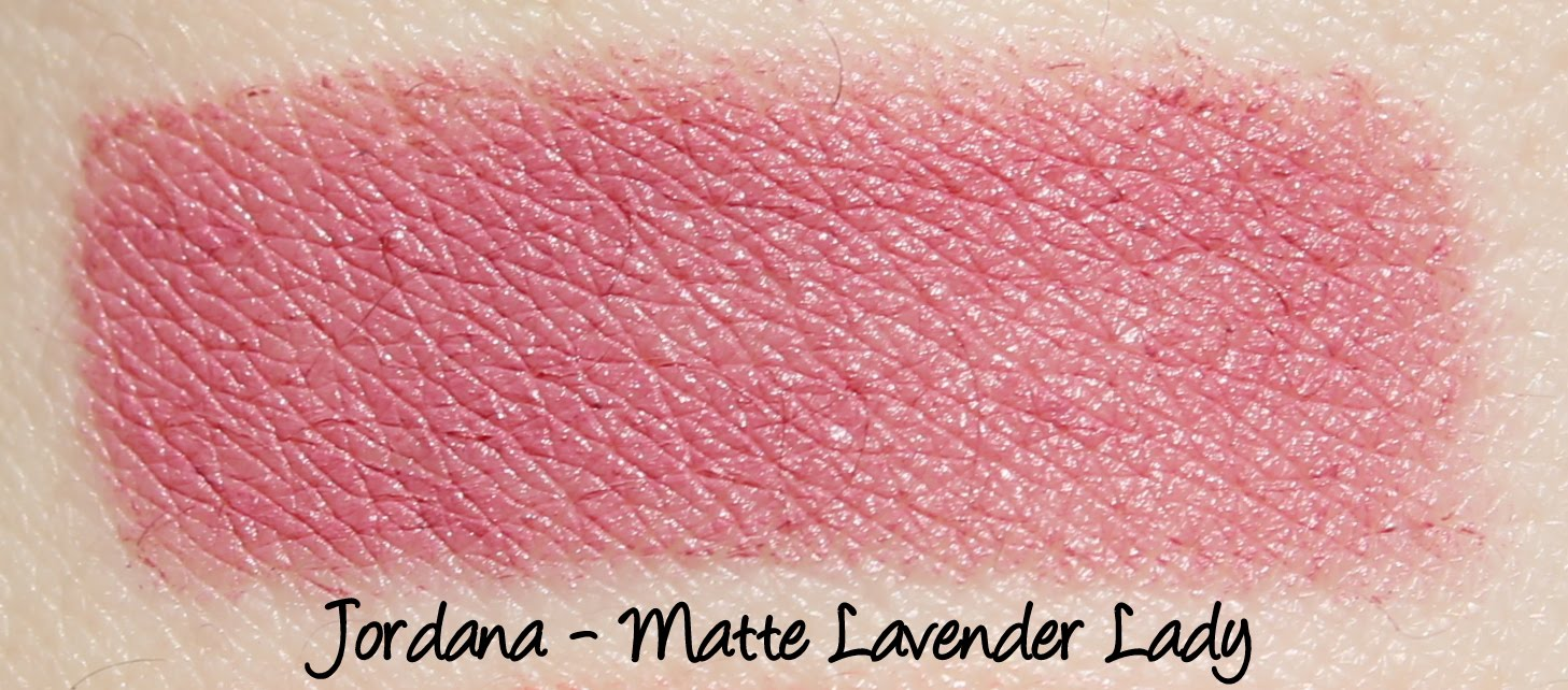 Jordana Lipsticks - Matte Lavender Lady Swatches & Review